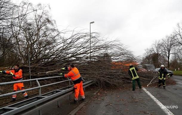 Сильнейшая буря в Европе.