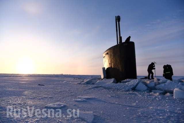 Подлодки ВМС США застряли во льдах Арктики во время отработки удара по России