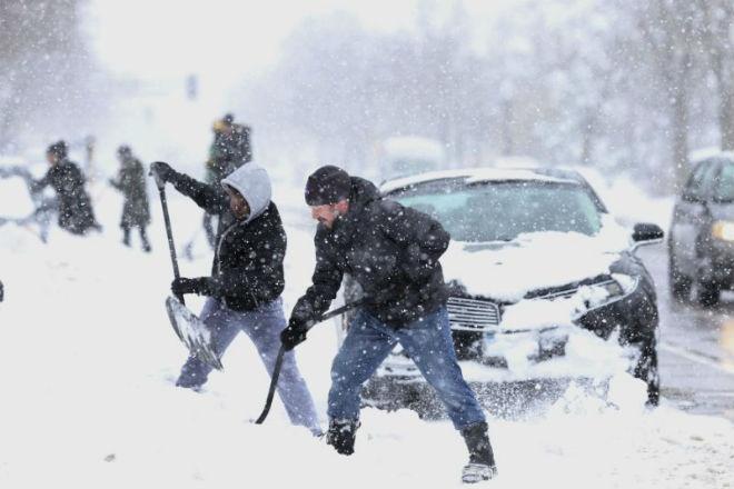 На Среднем Западе США прошли рекордные снегопады