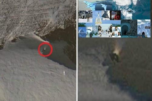 Новая загадка Антарктиды. Таинственный объект: прожектор или кто-то открыл люк?