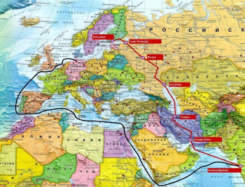 Россия, Иран и Индия начали тестирование транспортного коридора Север-Юг