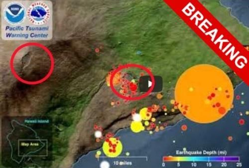 На Гавайах готовится извергаться второй вулкан. Это грозит цунами высотой до 100 метров.