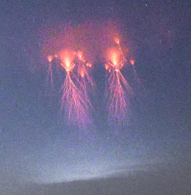Спрайты-медузы в небе над Оклахомой