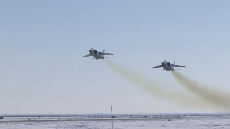 На боевое дежурство заступили 10 Миг-31 с «Кинжалами»