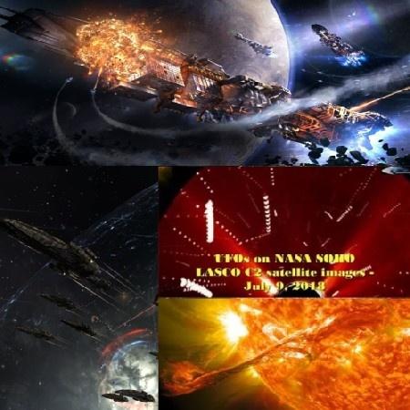 Конспирологическое: 9 июля около Солнца велась небольшая Космическая Война