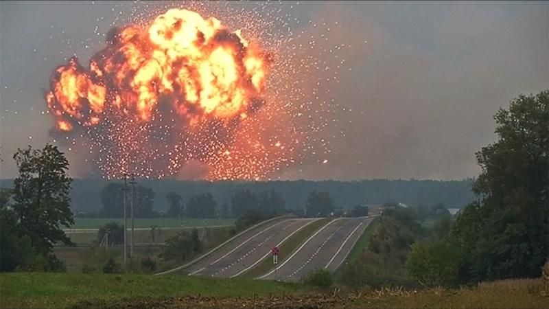 Почему на Украине под Черниговом загорелся склад с оружием
