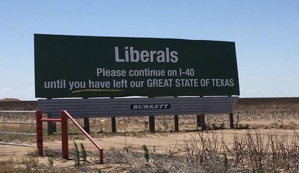 «Либералы, продолжайте движение, пока не покинете великий штат»  [комментирует М.Л. Хазин]