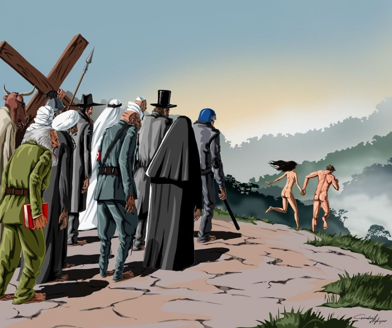 Супертолерантное общество. Сатирическая зарисовка.