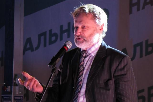 Дмитрий Орешкин на митинге сторонников Навального на Болотной площади (2013 год)